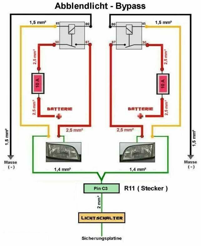 Abblendlicht - Bypass für Espace J63